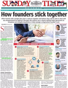 """COO, Amit Singh shares his experience """"How founders stick together"""" in Times of India"""